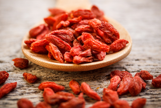 Goji berries   - known to be the most powerful remedy to balance body and mind in Chinese Medicine.