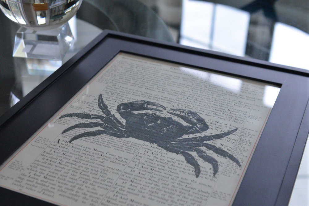 Crab Nautical Print