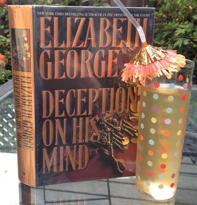 DECEPTION ON HIS MIND AND MINT GINGER TEA Elizabeth George is one of my favorite fiction writers. Here I match up one of her Detective Lynley Mysteries with Mint Ginger Tea. You may have seen the TV production of this book and the others in the series on PBS Mystery! If you aren't familiar with George's books, you may want to start with Deception on His Mind, the first in this excellent series.