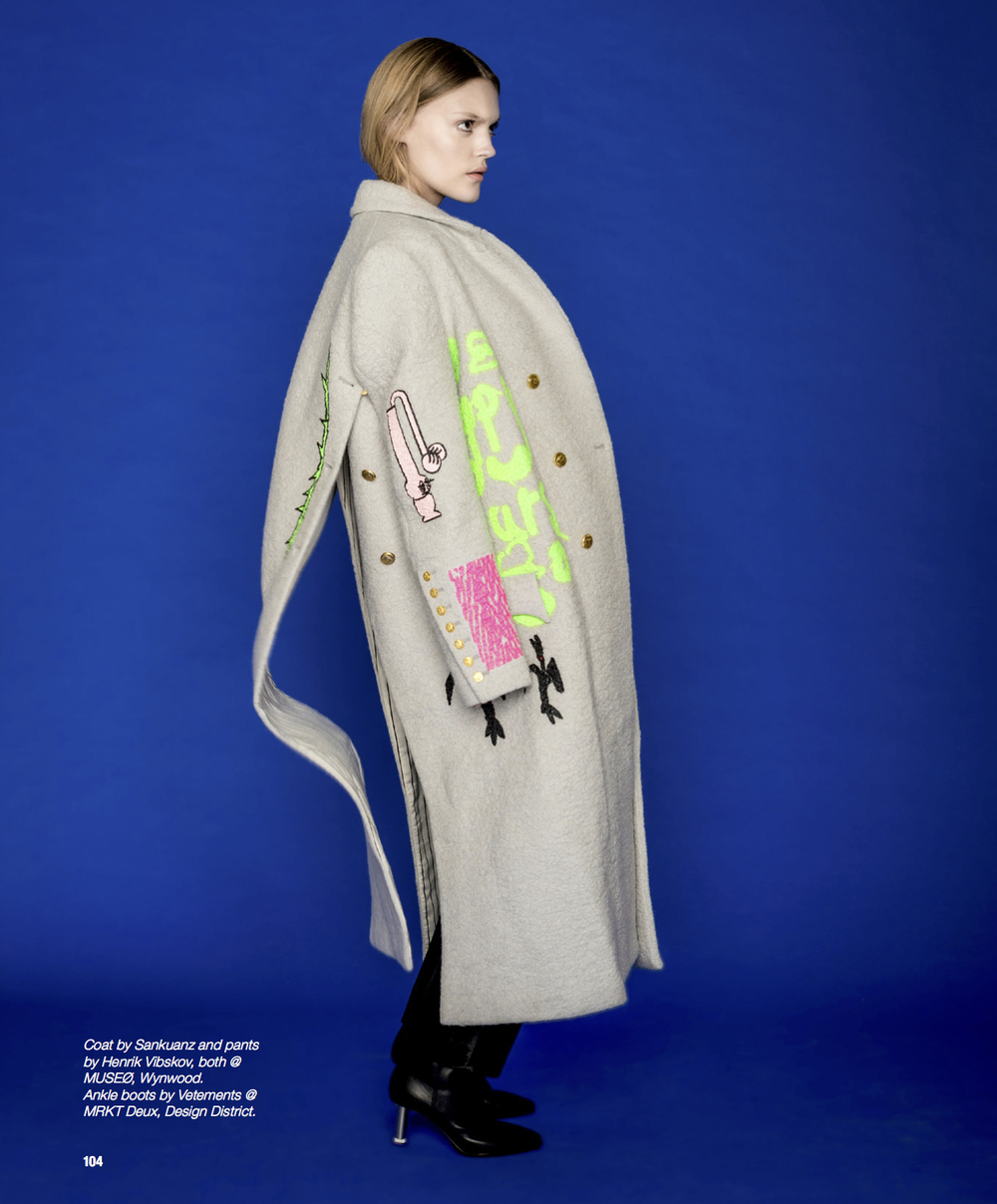 Deconstructed trench coat into a dress by Anne Sofie Madsen which is available at MUSEØ.