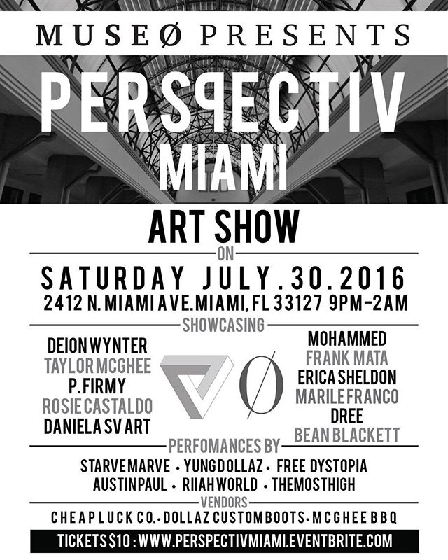 Saturday's Art show 🔥🔥🔥 Its all about Perspective 👁👁. Get your presale tix at eventbrite // Link in bio 🙌