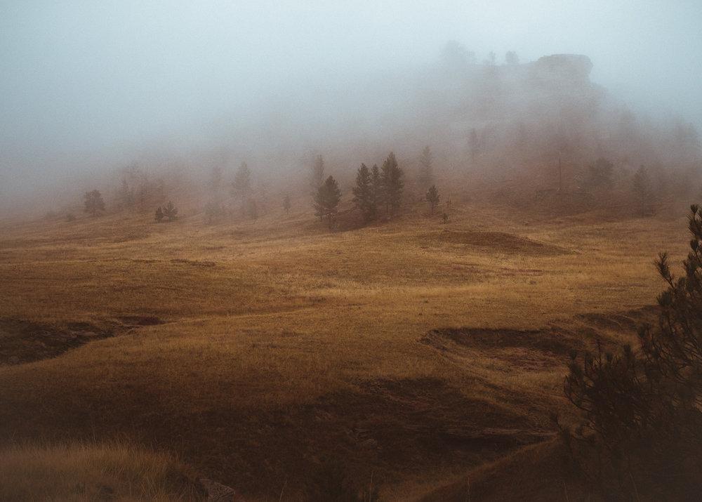 Receding Fog, Eastern Wyoming