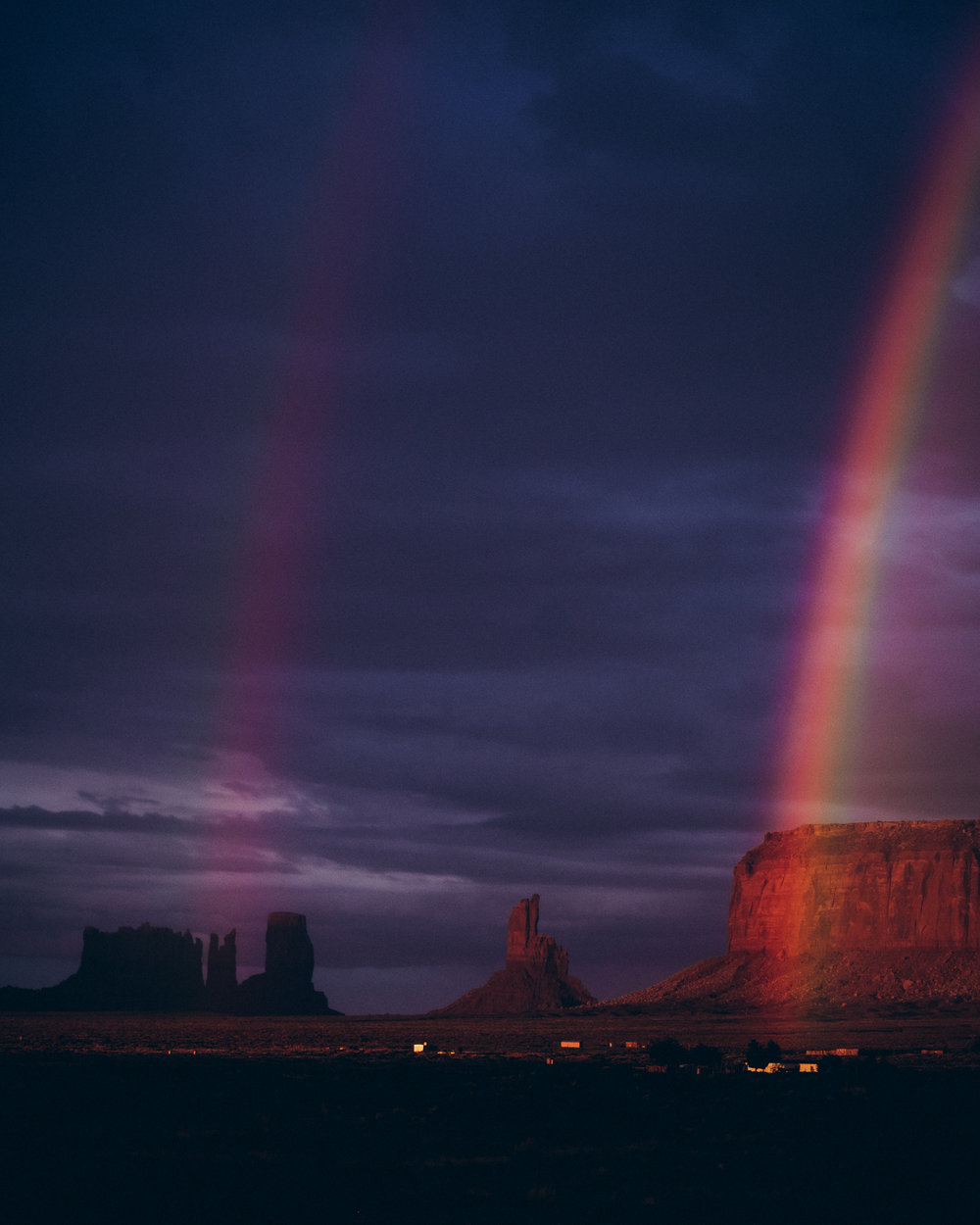 Double Rainbow, Monument Valley