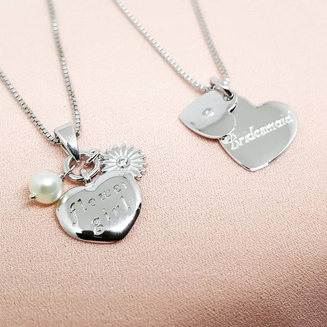 And something for junior bridesmaid and flower girl 👰🌼 #holebespoke #bespokejewellery  #madeinengland #craftmanship #finejewellery #jewellerydesigner  #caddesign #3dprinting #bespoke #wedding #silver #bridesmaid #flowergirl #necklace