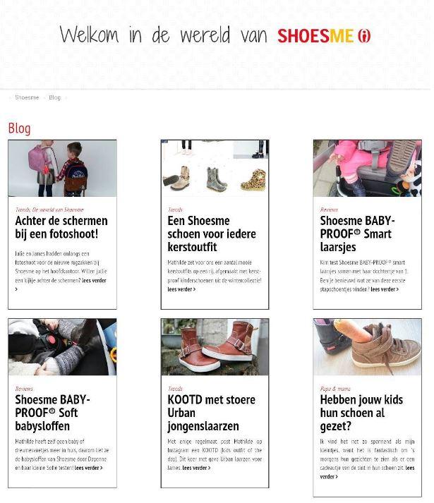 De samenwerking met Shoesme uit zich niet alleen in photoshoots, maar ook regelmatig een leuke blog op shoesme.nl. Oh, binnenkort mag ik op Coffeeandkids.nl weer een gave rugzak weggeven!!!