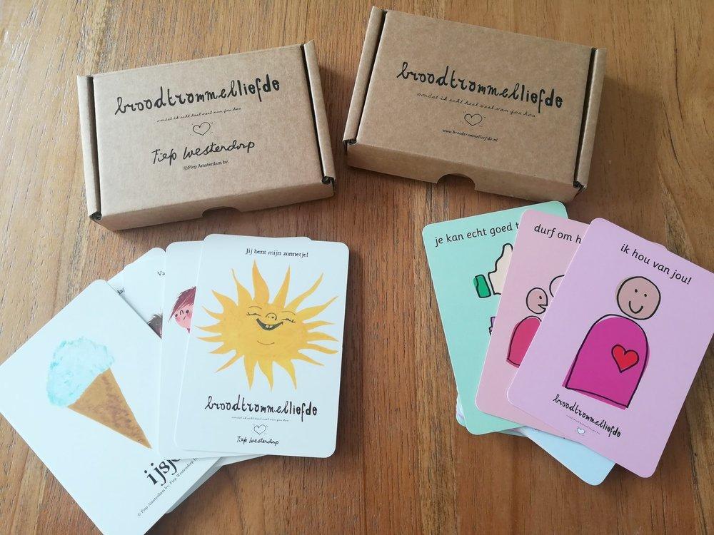 Broodtrommelliefde - Kaartjes voor in de broodtrommel met liefdevolle, leuke, aanmoedigende teksten. Klein gebaar, groots effect#altijdsamen