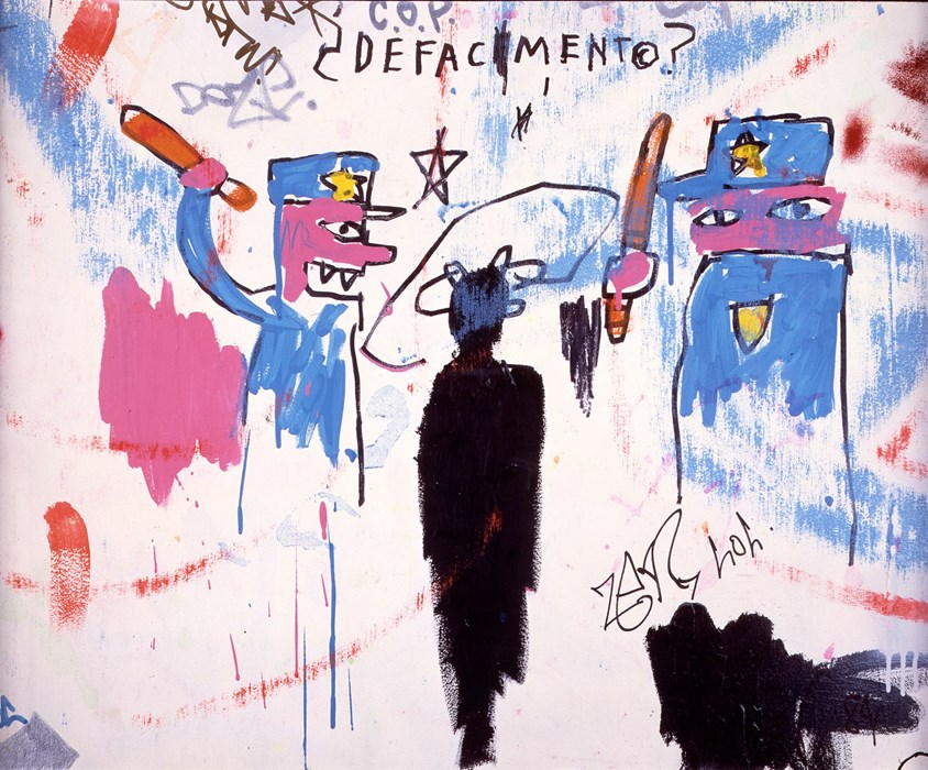 Defacement (The Death of Michael Stewart) by Jean-Michel Basquiat