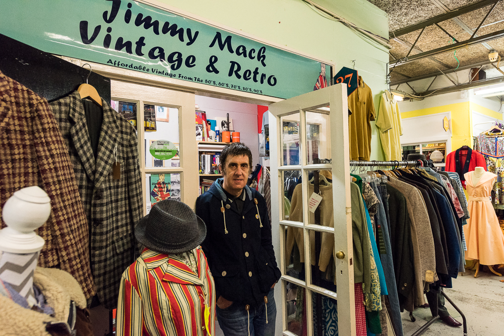 jimmy mack vintage    jimmy mack is run by the market's very own 'mod father'. on offer is a range of one-off vintage clothing items from the fifties through to the nineties, and a collection of clothes inspired by the mod, skinhead, scooter and soul scene.