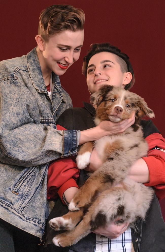 Danny, Amanda, Bailey (the dog)