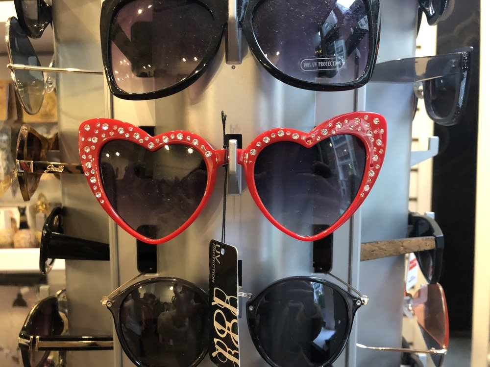 Beacon's Closet is perfect for finding unconventional pieces like these sunglasses.  Photo: Samantha Coulter.