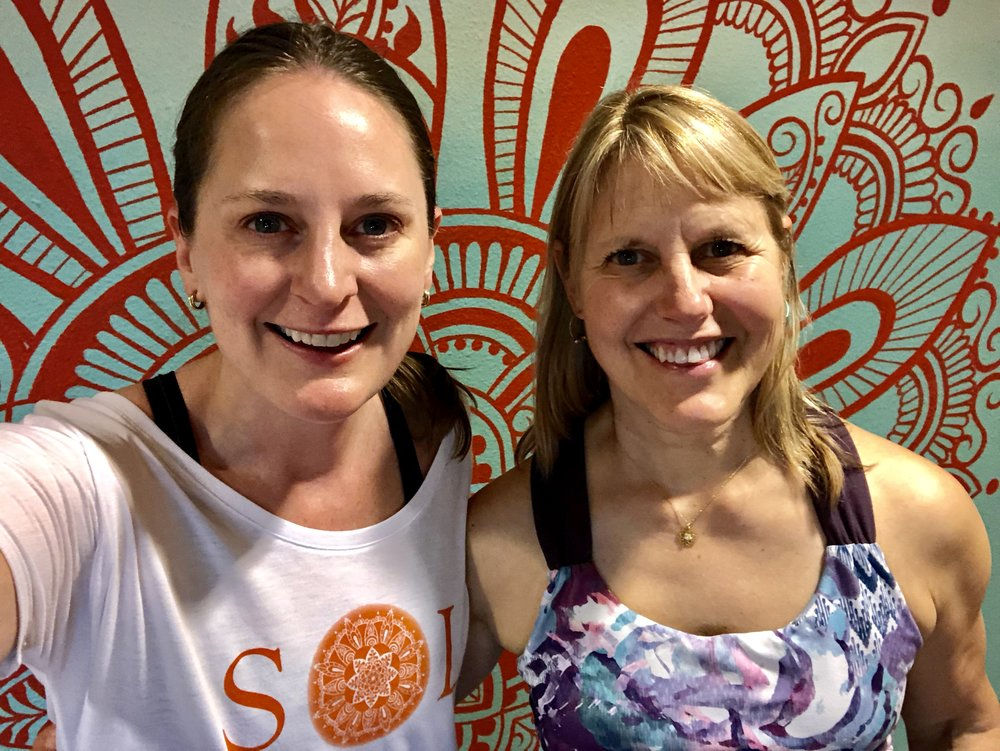With Lynn Jensen at the Yoga Event