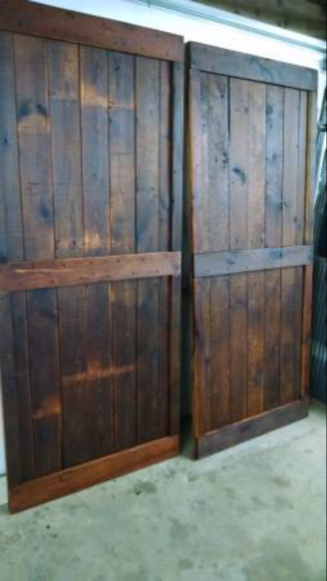 - Custom barn doors for around $1,500!