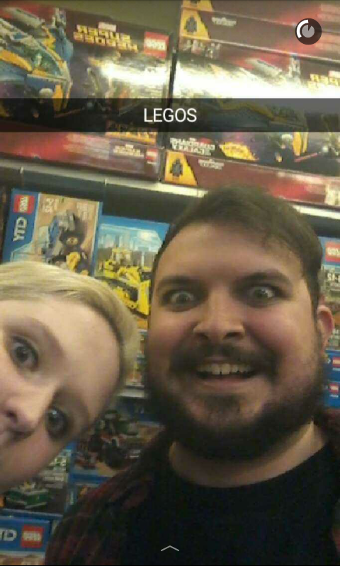 We show up early to stuff, so we hid in a toy store for a bit...