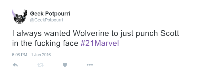 Seriously, we don't like Scott Summers