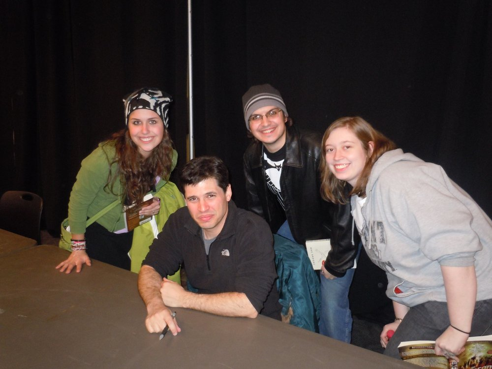 That's me and Max Brooks. Author of The Zombie Survival Guide and World War Z, among others. Son of Mel Brooks. It was awesome.