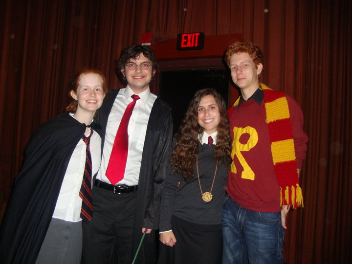 Ginny, Harry, Hermione, and Ron. Gingers played by actual gingers.