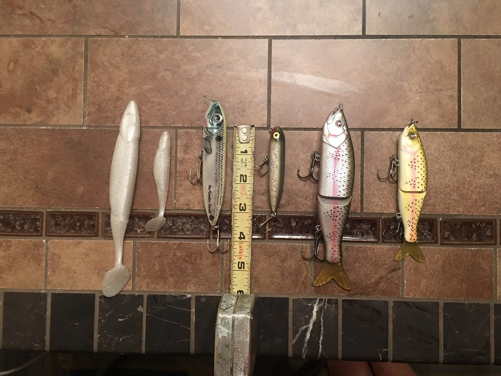 The smaller sized bait of each original bait