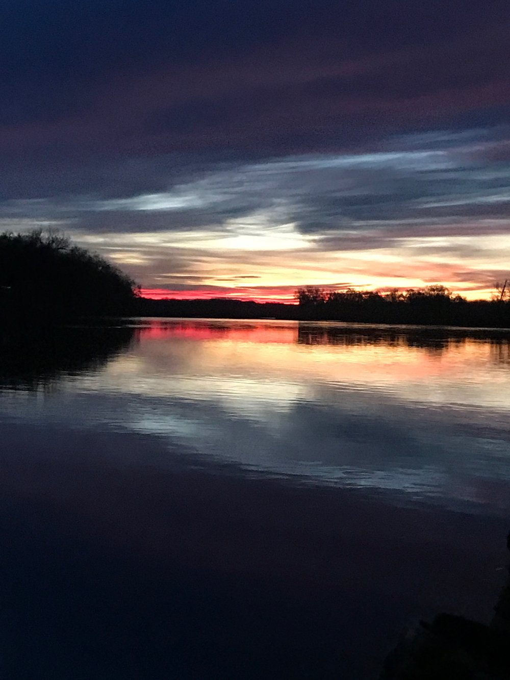 A typical sunrise photo this winter on the Sacramento River. Photo taken by Mike Rasmussen of Mike's Guide Service on December 28, 2017.