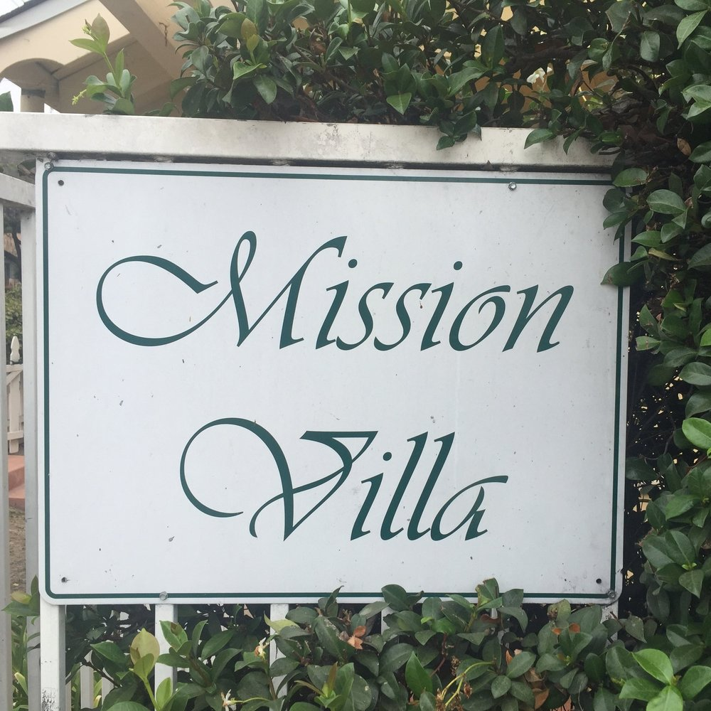 Mission Villa Sign in Santa Barbara