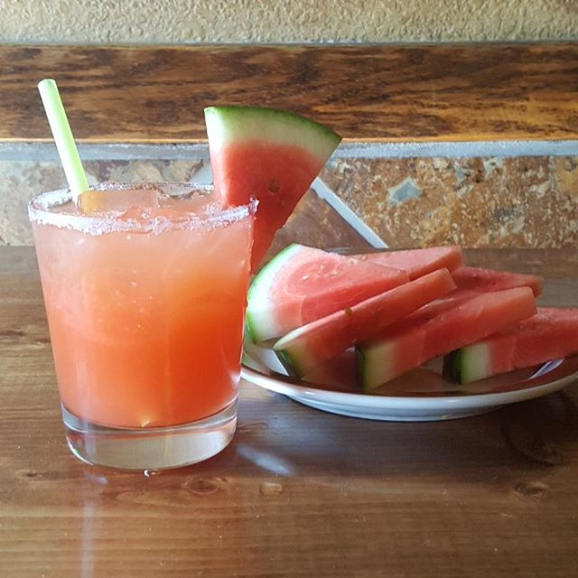 This delicious 1800 Coconut + Watermelon Margarita is on special today. Stop in and give it a try! #margaritawednesday #margarita #casaramosaz #casaramosmesa