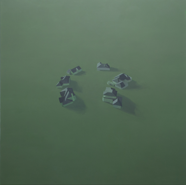 Congregation, 2012, oil on canvas, 160x160cm