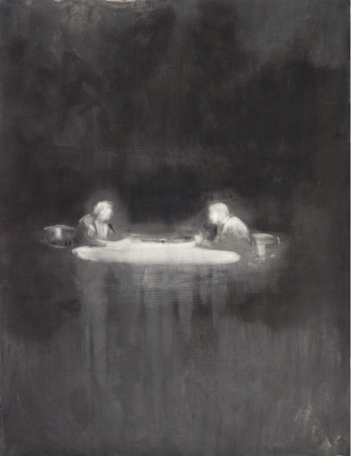 Talk, 2011, oil on paper, 127x98cm