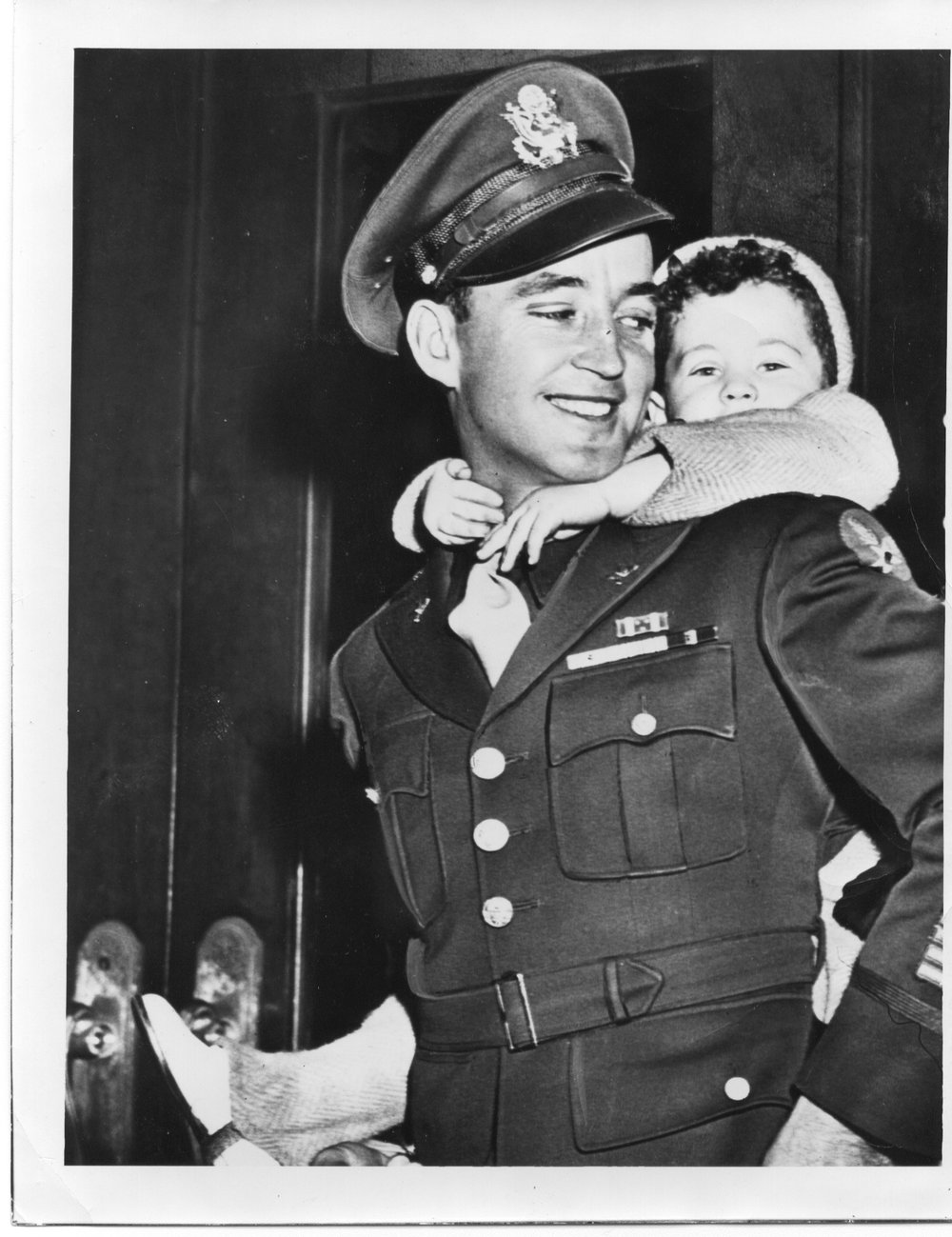 Robert Ball and nephew, 1945