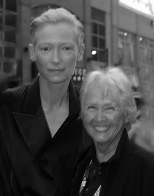 Jean with Tilda Swinton, at the Toronto International Film Festival