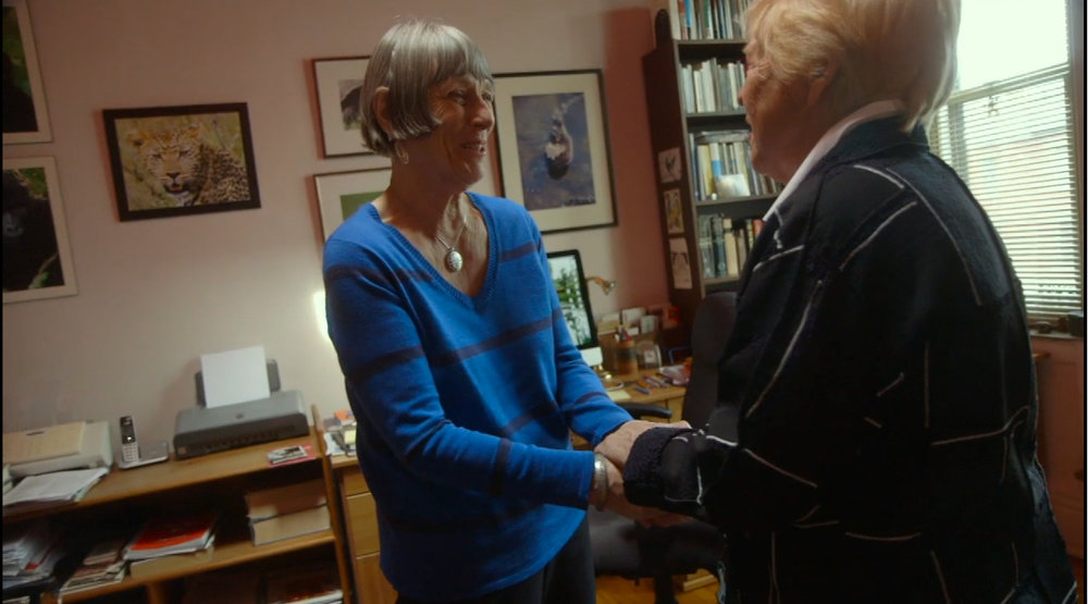 "Jean Carper with Margaret Lock ((Screenshot from ""Monster in the Mind,"" Carper, J. Producer, 2017)"
