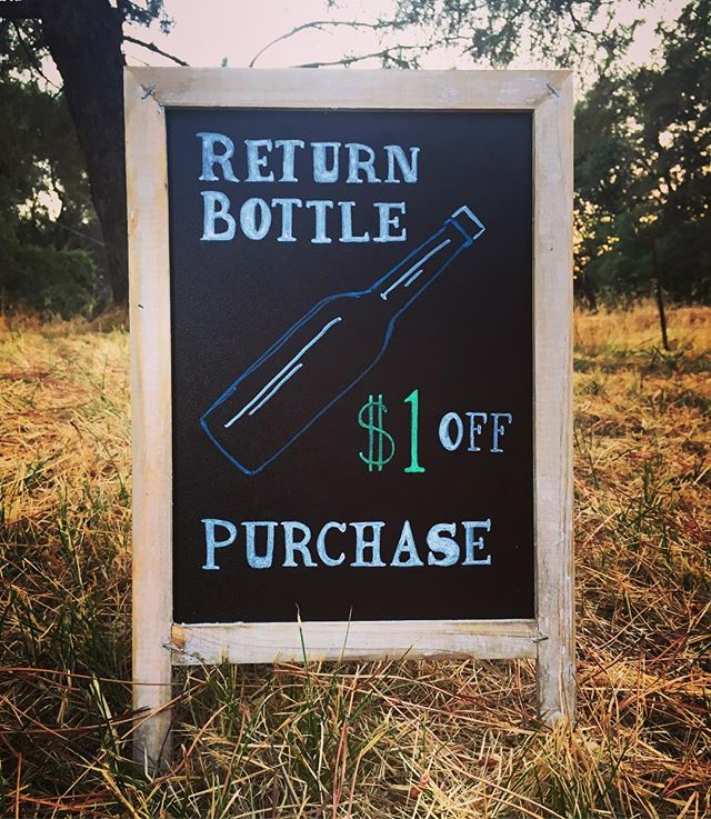 Our goal is to work towards being as close to zero waste as possible, so this year we'll take a dollar off your purchase every time you return a bottle with its cap ♻️💸