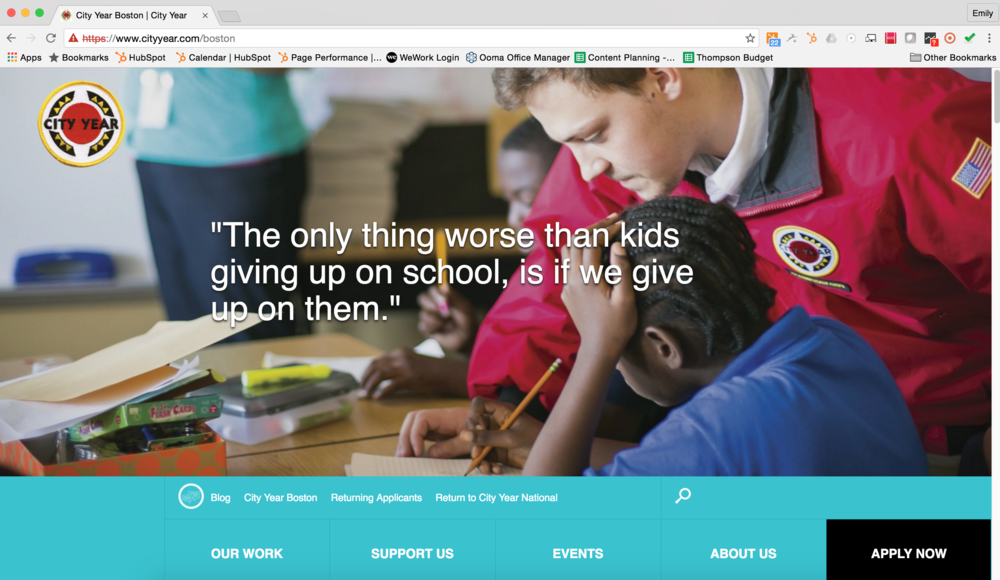 City Year Website Content
