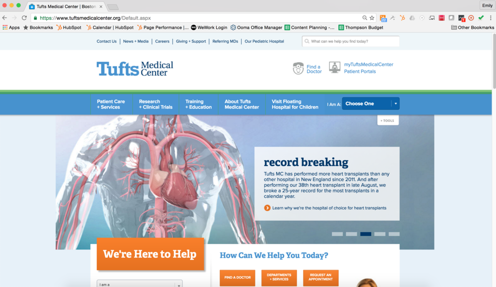 Tufts Medical Center Website