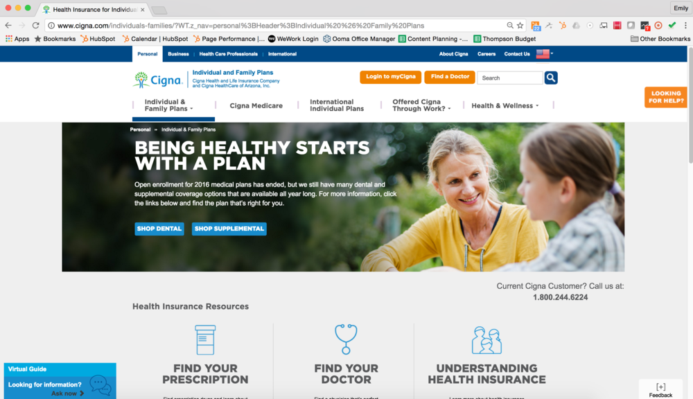 Cigna Website