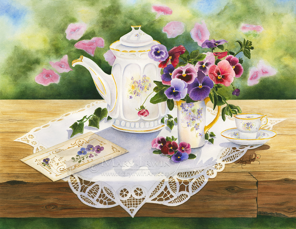 Victorian Tea in the Garden by Mary Irwin