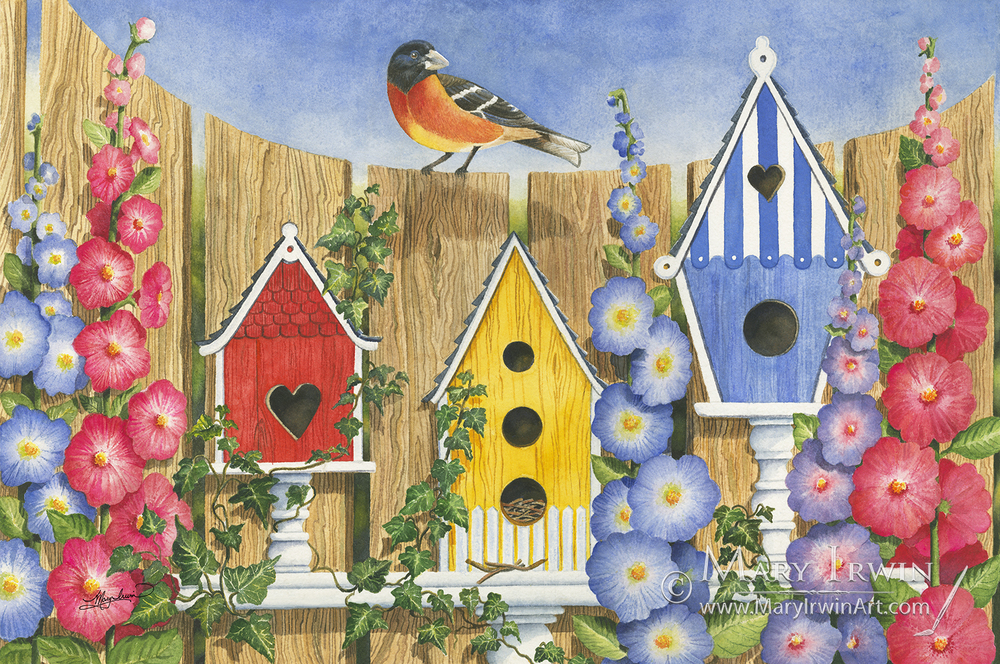 Birdhouse Row by Mary Irwin