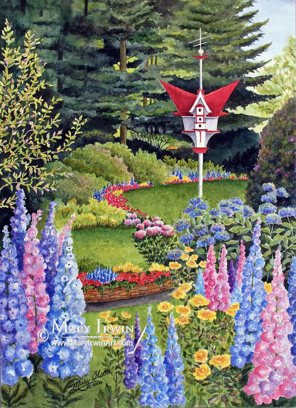 Butchart Gardens Birdhouse  by Mary Irwin