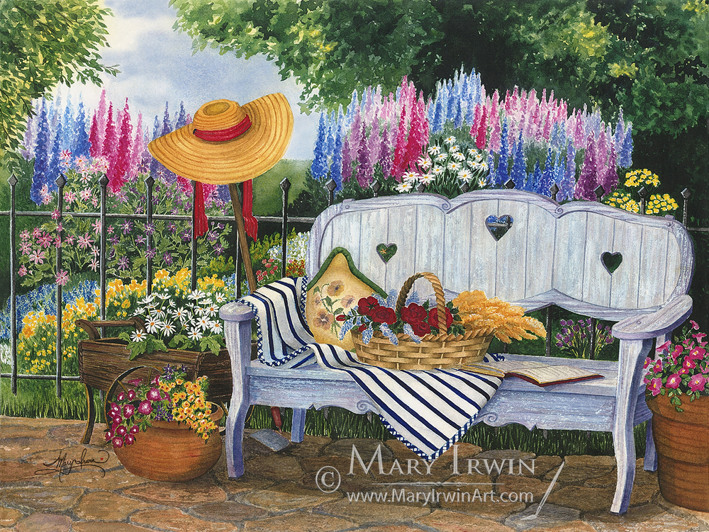 The Garden Bench by Mary Irwin
