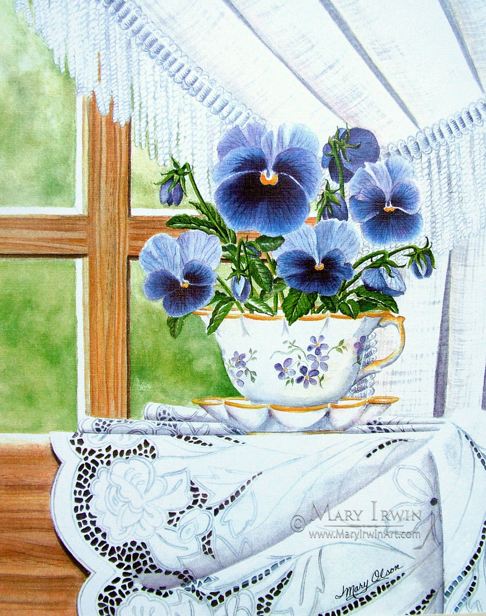 'Cup-O-Pansies'  by Mary Irwin
