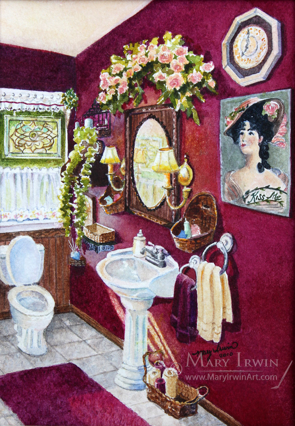 Victorian Powder Room by Mary Irwin