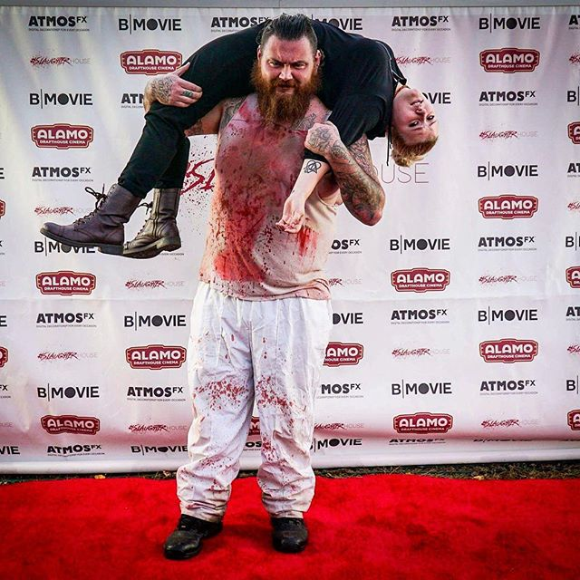 Get on my back...we are headed to the Cannes Film Market in 20 days! #comingsoon #slaughterhouse #dontlockthedoors