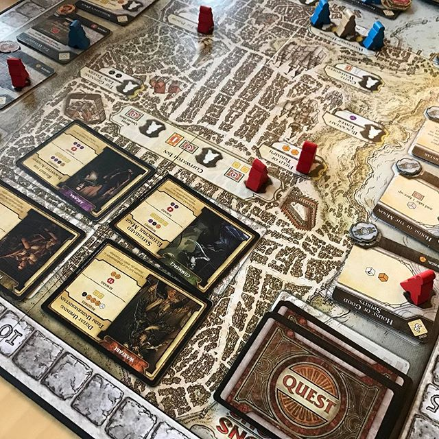 Game day! Really enjoyed lords of waterdeep as a two player. Lost 189-193 tho #lordsofwaterdeep #workerplacement #boardgames #boardgame #analoggames #tabletop #tabletopgames #bgg #boardgamegeek  #tabletopgaming #boardgamesofinstagram #juegosdemesa #rumandboard #boardgaming #boardgamenight