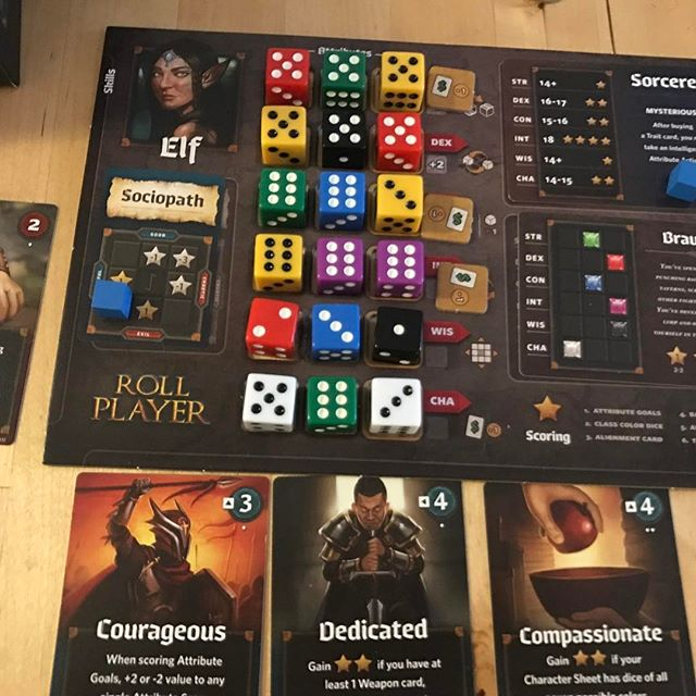 More fun with dice! #rollplayer #boardgames #bgg #tabletop #analoggames #gamenight