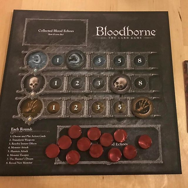Liked this pretty well, not the most strategically interesting game ever though. I was pretty into the weapons. #bloodborne #bgg #tabletop #analoggames #juegosdemesa #gamenight #boardgames
