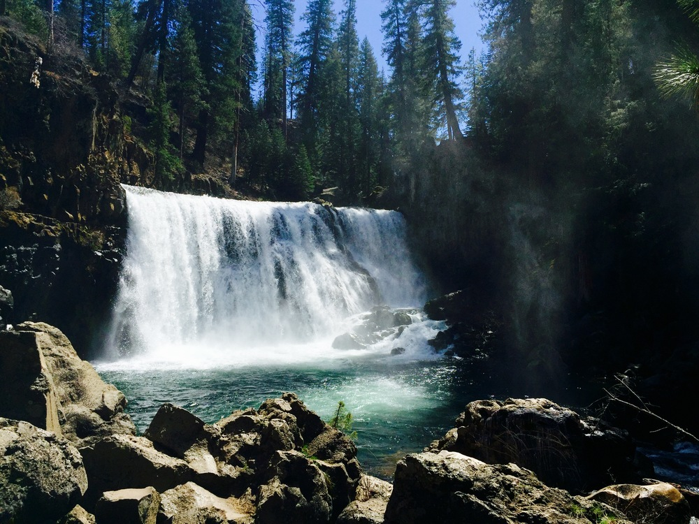 McCloud Falls, less than 30 minutes away