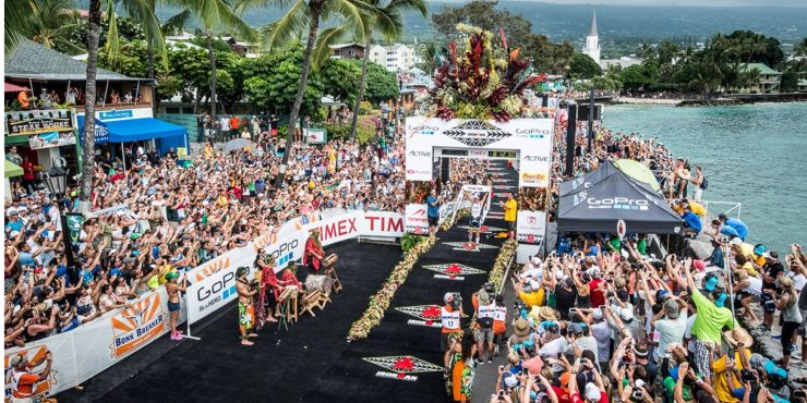 Ironman Triathlon World Championship Finish line via Ironman.com