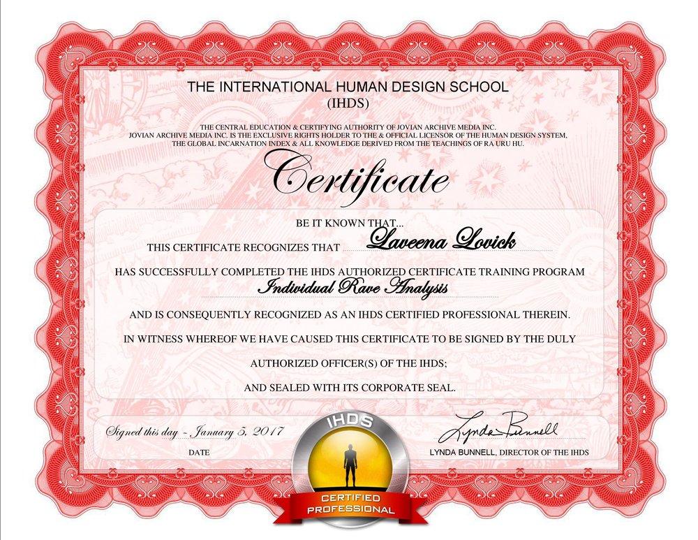 Laveena Lovick Human Design Chart Analyst