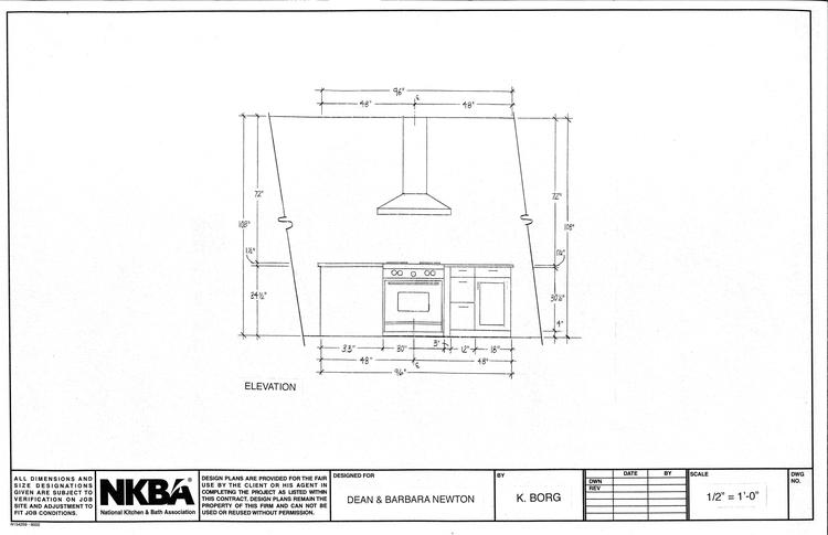 Kitchen Island Elevation kitchen & bath — kborg design