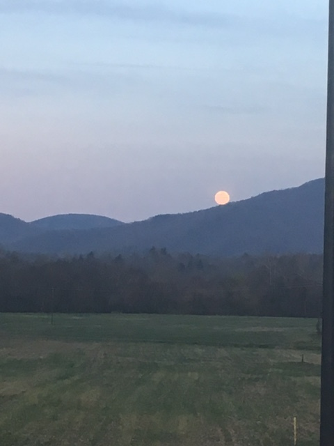 Mama Moon Rising Over Asheville