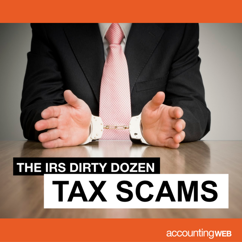 "Slideshow based on the annual IRS ""Dirty Dozen."""