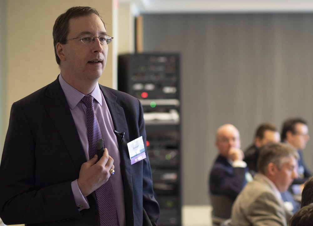 Ken Horne from Navigant facilitating the event